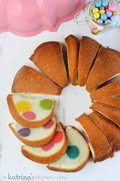DIY suprise inside dotty cake...recipe step by step!!!