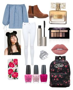 """🤙🏼🍍💩"" by fnmilfor ❤ liked on Polyvore featuring MDS Stripes, Miss Selfridge, Lime Crime, Ilia, Givenchy, Smashbox, Seychelles, Sonix, OPI and Vans"