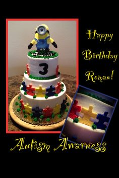 2nd Birthday, Birthday Parties, Happy Birthday, Gotcha Day, Different Cakes, Google Chrome, Awesome Cakes, Cookie Designs, Autism Awareness