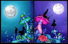 """set of """"Alice in Wonderland"""" giclee painting prints from Annya Kai (annya127) on etsy"""