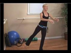 Standing Pilates Exercises : Muffin Top Leg Lift Pilates Exercise - YouTube