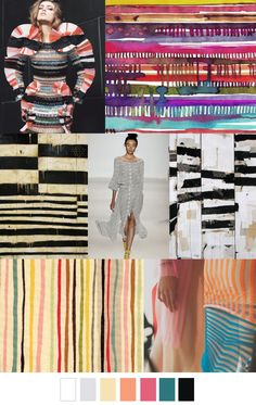 STRIATION VARIATION from patterncurator.org. .This is trending for SS 2017!