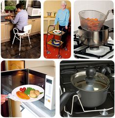 Examples of adaptive kitchen equipment