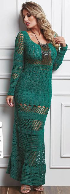 I luv the addition of the rest of the skirt Crochet Winter Dresses, Crochet Skirts, Crochet Clothes, Beau Crochet, Mode Crochet, Knit Crochet, Clothing Patterns, Dress Patterns, Pattern Dress