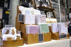 Paper Ivy Stall at The Finders Keepers Craft Stall Display, Market Stall Display, Craft Booth Displays, Market Displays, Merchandising Displays, Display Ideas, Art And Craft Shows, Craft Show Ideas, Diy Stationery Crafts