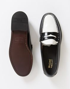 2a136fe5b38 Bass   Co.h Bass Weejuns Two Tone Penny Loafer Black White.