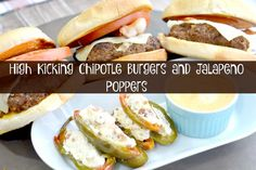 High Kick Chipotle Burgers and Jalpeno Poppers | Houseful Of Nicholes Using La Morena Chipotles in Adobo Sauce and their pickle jalapenos is the secret to this game day meal! #VivaLaMorena ad