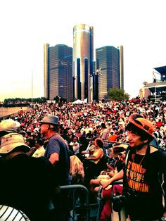 A perfect night at the Detroit Jazz Festival. Detroit by iPhone.