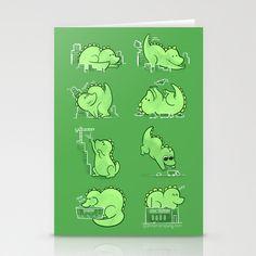 Gawwwzillawww Stationery Cards by Anna-Maria Jung - $12.00