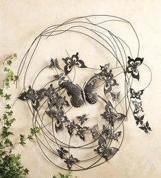 Flying #Butterflies Metal Wall Art