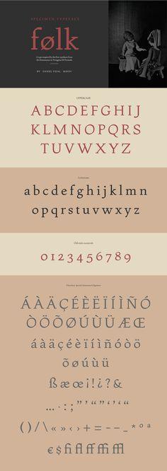 """Folk"" by Daniel Vidal via Typography Served"