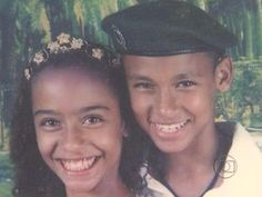 Look how little Neymar and his sister rafaella are