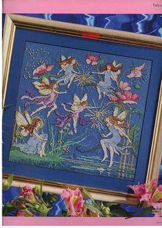 Fairy Garden 1 of 6 Fantasy Cross Stitch, Cross Stitch Fairy, Cross Stitch Angels, Cross Stitch For Kids, Cross Stitch Flowers, Counted Cross Stitch Patterns, Cross Stitch Charts, Cross Stitch Designs, Cross Stitch Embroidery