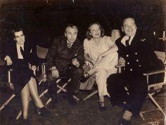 MARLENE DIETRICH, JOSEPH VON STERNBERG, DOROTHY ARZNER AND WALLACE BERRY IN A MGM STUDIO