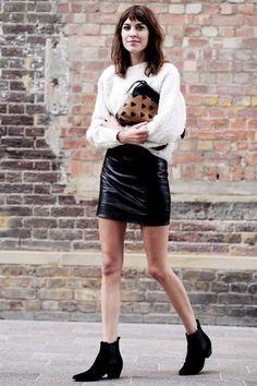 AWLAY STYLISH....Alexa Chung, London Fashion Week Spring 2014