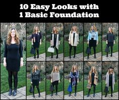 I created 10 easy looks with 1 basic foundation.