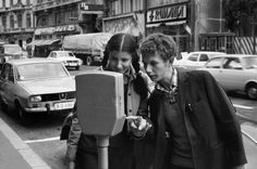 """Bucharest may 1975. The first parking meters are received like new toys.""  Source : Henri Cartier-Bresson (Henri Cartier-Bresson was the photographer considered to be the father of modern photojournalism. He was invited to visit Bucharest and Romania in may 1975 , at the celebration of victory over the Nazis)"