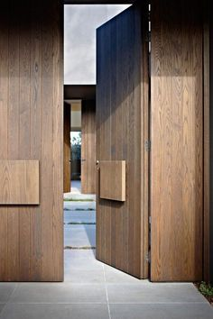 Bold wood front door