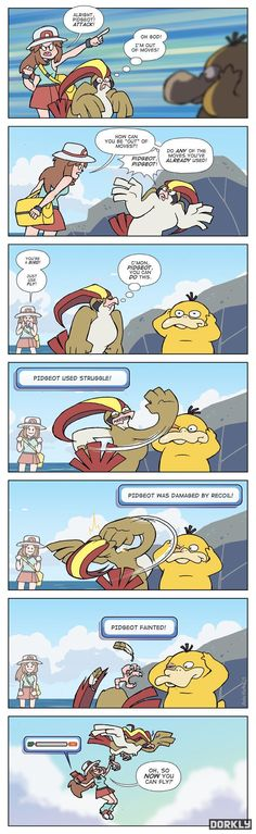 "This made me laugh so hard. Worst thing when a pokemon has to resort to ""Struggle"". Pokemon Mew, Pokemon Pins, Play Pokemon, Pokemon Comics, Pokemon Funny, Pokemon Stuff, Video Games Funny, Funny Games, Pokemon Pictures"