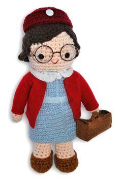 Crochet Chummy Call the Midwife Doll Pattern Free Chummy Call The Midwife, Cute Crochet, Crochet Toys, Crochet Blanket Patterns, Knitting Patterns, Rabbit Crafts, Doll Patterns Free, Midwifery, Vintage Knitting