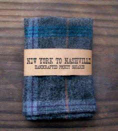 Grey & Blue Plaid Pocket Square |  New York to Nashville