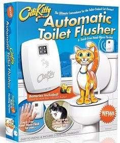 If your kitty has been toilet trained, they can't flush.  This does.