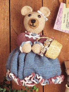 Decorate your home with this cute little bear.Bear size: 14 inches tall (appx)Skill level: Average http://www.freepatterns.com/detail.html?code=FC00293&source=fcbklka