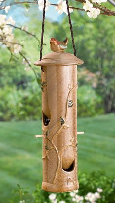 Amazon.com: Grasslands Road Ceramic Birdfeeder, 14-Inch: Patio, Lawn & Garden