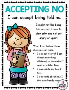 Social Skills Lesson: Accepting No Social Skills Lesson: Accepting No ,Mix Mine 2 ☸️ Related posts:Anger Rules and Coping Skills (+ES) - EducationUpper Elementary Counseling: What Are Things I Can & Things I Can't. Teaching Character, Character Education, Kids Education, Special Education, Education Logo, Education Center, Social Skills Lessons, Coping Skills, Teaching Social Skills