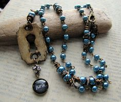 Junk,Junk Gypsy Jewelry Collection with Vegan Friendly Glass Pearls on Etsy, $55.00