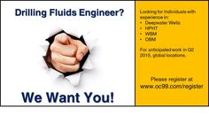 #oc99jobs #oiljobs #MudEngineer #DrillingFluids Looking for Mud Engineers/Drilling Fluids Engineers for anticipated upcoming work.  Must have at least 6 years experience and deepwater, OBM or WBM experience.  Please register at www.oc99.com/register for regular updates of upcoming jobs. Oil Jobs, Contract Jobs, Deep Water, Oil And Gas, Engineers, 6 Years, Mud, Drill