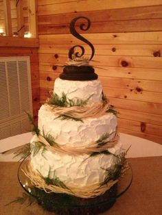 Our Rustic wedding cake