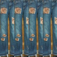 Werbe Foto meiner Cord Jeans Hose. Aus Cordresten meine alte Jeanshose auf gepimpt. So hat sie ein neues gesicht.