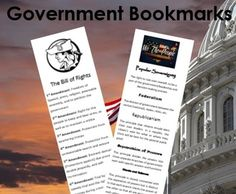 Introducing the Bill of Rights and the Principles of the Constitution on a two sided bookmark for students to use and review.  I have included a sheet for teachers to print off on card stock or any other type of paper.  Each copy makes three bookmarks.