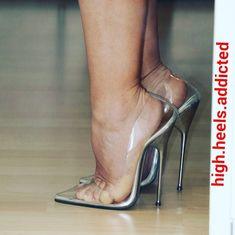 fc69aef47 Classic clear high heel pumps. Clear High Heels