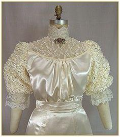 Satin lace blouse