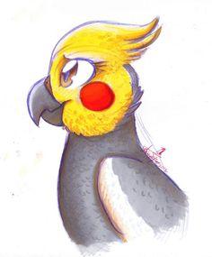 cute cockatiel drawing - Google zoeken