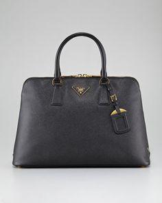 Saffiano Lux Two-Way Zip Satchel Bag by Prada at Bergdorf Goodman.