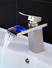 Contemporary Color Changing LED Bathroom Sink Faucet   T8006 | LED Faucets  | Pinterest | Bathroom Sink Taps, Sink Taps And Taps