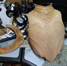 Cuirass WIP Part of a leather armor full suit inspired by Artorias from Dark Souls. The reference material I had to work with was such that I had to come up with my own embellishment designs so its...