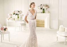 Maybe a bit low for a wedding but so pretty!  Pronovias presents the Vergel wedding dress, Manuel Mota 2013. | Pronovias