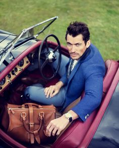 "David Gandy in Scotland - ""Driving is my form of escapism. I love Africa. My family and I have driven everywhere, from South Africa and Namibia to the Okavango Delta area in Botswana, the Atlas Mountains and through Uganda on a trek for gorillas."" - David Gandy, fashion model"