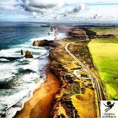 Twelve Apostles Aerial Great Ocean Road VIC 12 Apostles Helicopters Australia #downunderguru #Travel #12Apostles #GreatOceanRoad #Victoria #Australia by downunderguru