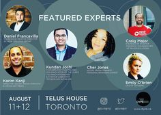 Pleased to announce more featured @DYPBTO experts Aug 11-12!  #entrepreneur #smallbiz #Toronto  Cher Jones will moderate the Social Media panel and joins both Karim Kanji & Emily O'Brien.  Kundan Joshi is on our Tech/Innovation panel Craig Major is on our Startup panel Daniel Francavilla moderates our popular Targeting your Branded Tribe panel.  You do not want to miss Canada's BIGGEST personal branding conference! 2 weeks away.  #DYPB17  Join us for a game-changing day and a half…