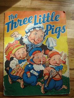 The three little pigs- antique book images | Antique Three Little Pigs Book 1938 by VintageShoppingSpree