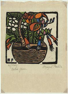 Margaret Preston - Basket of Australian Wildflowers