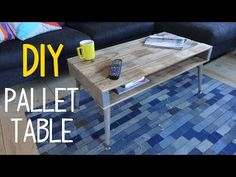 How to Build a Simple Pallet Wood Table - YouTube
