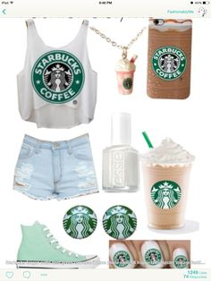 Love this outfit! Makes me want Starbucks!
