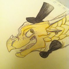 I know I'm judging this contest and I can't make myself win or lose (not that I would), but I just really wanted to draw Qibli as Bill Cypher from Gravity Falls. By me, @bethanytorio
