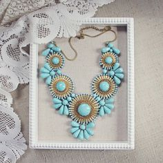 Bohemian Romance Necklace, Bold Turquoise Jewelry from Spool 72. | Spool No.72